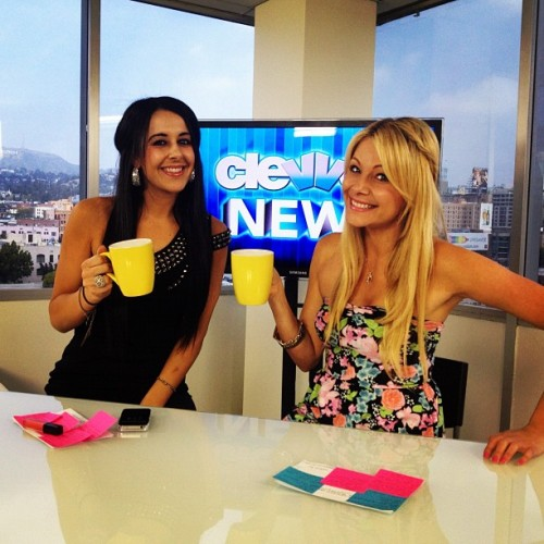 Shooting Rumor Patrol with my P.I.C. at Clevver News HQ today!