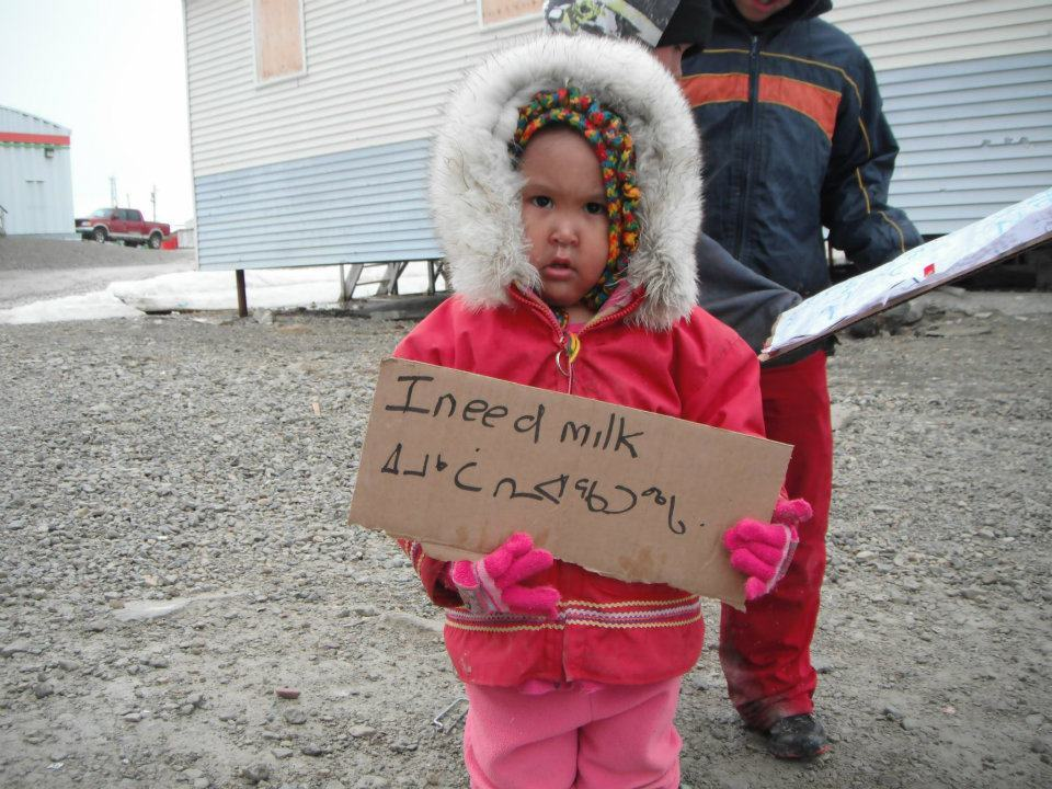 isumatv:  If you are interested in adopting a family in Nunavut to send them non-perishable foodstuffs (eg, powdered milk, toilet paper, rice, beans, etc), there is a Facebook group devoted to matching families in the South with families in the North. Updated lists of families who need help will be posted at 1pm PST — she says daily, but keep checking back.  Pertinent to our last post - thanks, Isuma.