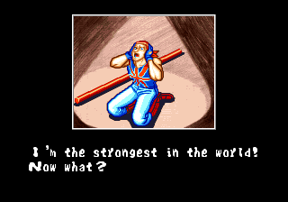 bison2winquote:  - Billy Kane in his ending, Fatal Fury Special (SNK)