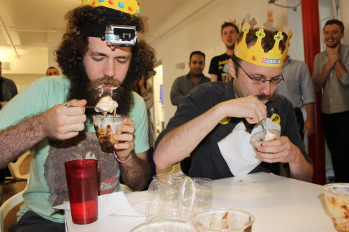collegehumor:  Bacon Sundae Challenge vs. Buzzfeed Full album on our Facebook page.  Work has been weird today.