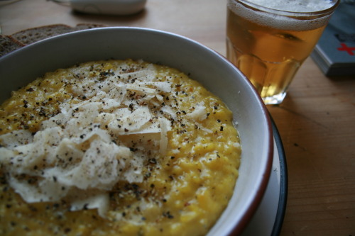 Saffron & white wine Risotto.