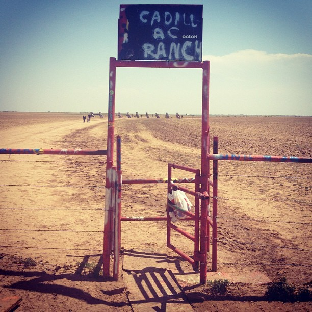 Scavenger hunt find #5: Cadillac Ranch (Taken with Instagram)