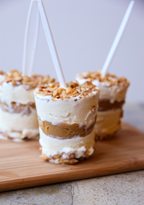 fraternalfilms:  gastrogirl:  simple layered peanut brittle ice cream pops.  YES NOW YES PLEASE NOW YES