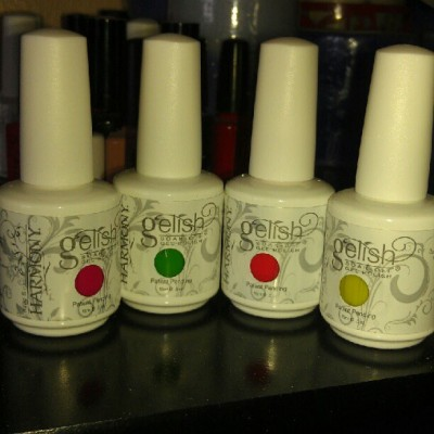 New addition to my Gelish Family..I love Gel manicures last up to 3weeks..if u ever want to give ur nails a break from the acrylic,these are your friends.. #gelnails  (Taken with Instagram)