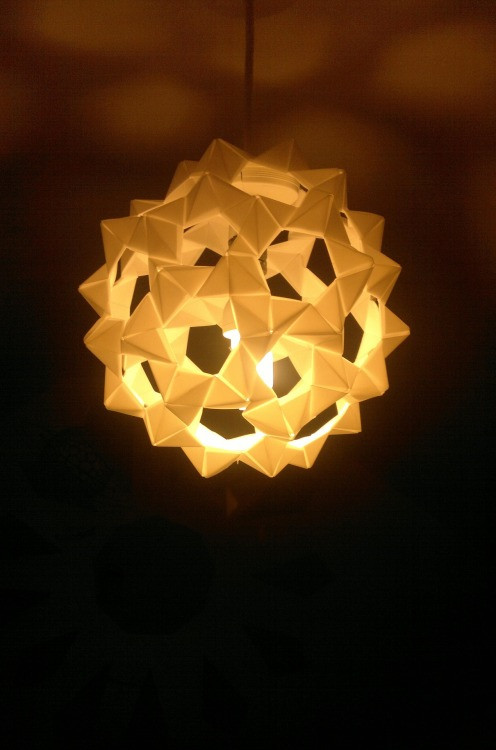 Spent this evening making an origami lampshade