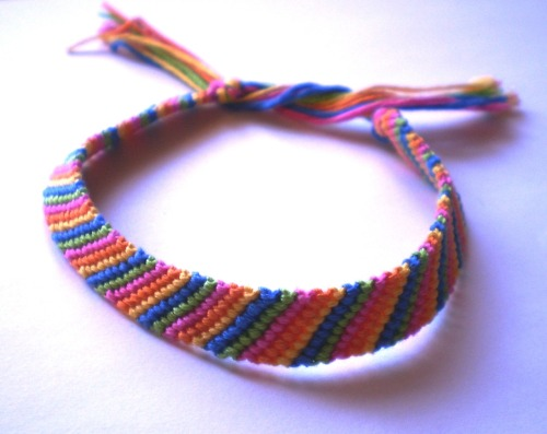 One of my Etsy listings. This is a candy stripe friendship bracelet. https://www.etsy.com/listing/101790768/candy-stripe-pattern-embroidery-thread