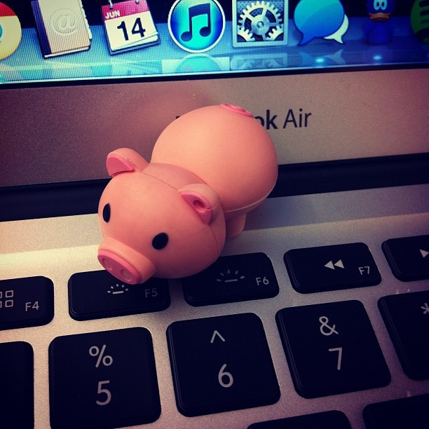 I have the cutest USB drive.  (Taken with Instagram at BestVendor HQ)