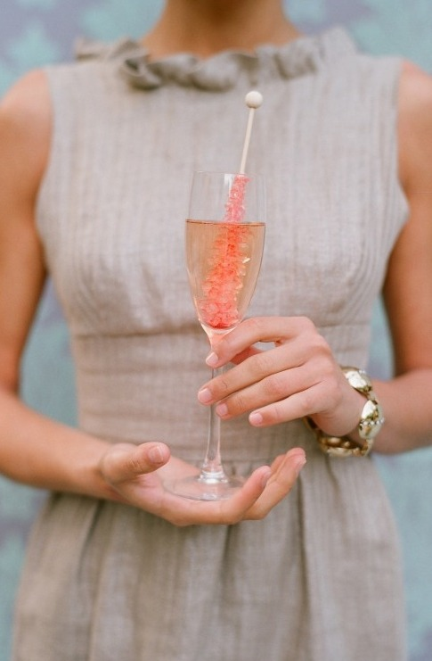 {Rock Candy} signature cocktail. Perfect for a wedding reception.