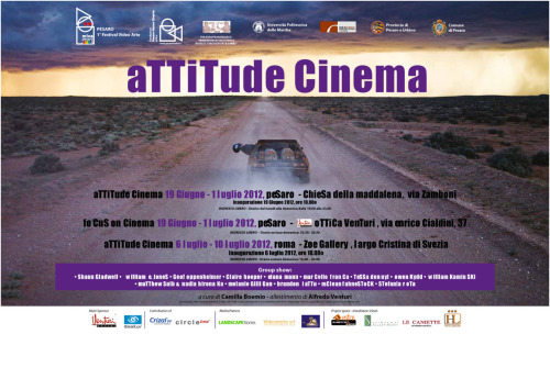 LS | Attitude Cinema  Attitude Cinema  curated by Camilla Boemio