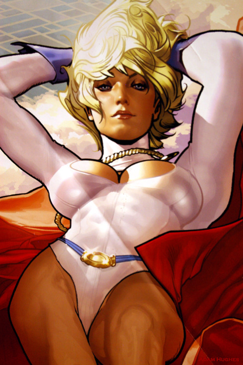 americancomicon:  The Art of Adam Hughes: Power Girl. MegaCon. Orlando. 2012. Exhibit Hall: Coliseum of Comics Pavilion.