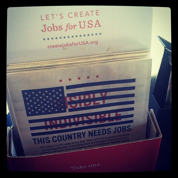 Hmm. Going to check this out: createjobsforUSA.org (Taken with Instagram at Starbucks)
