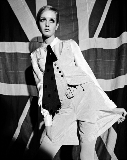 Patriotic Twiggy, 1966 by Terence Donovan