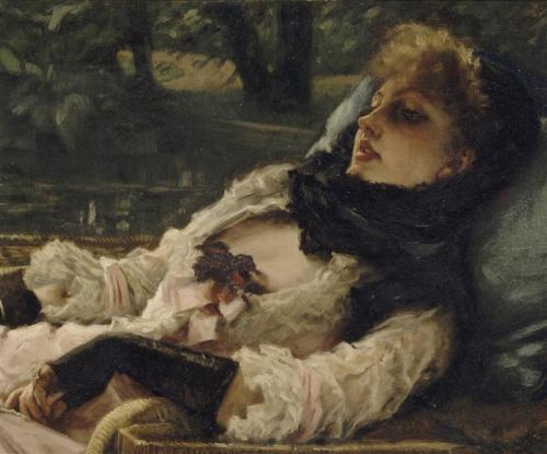 james tissot, 'la rêveuse'