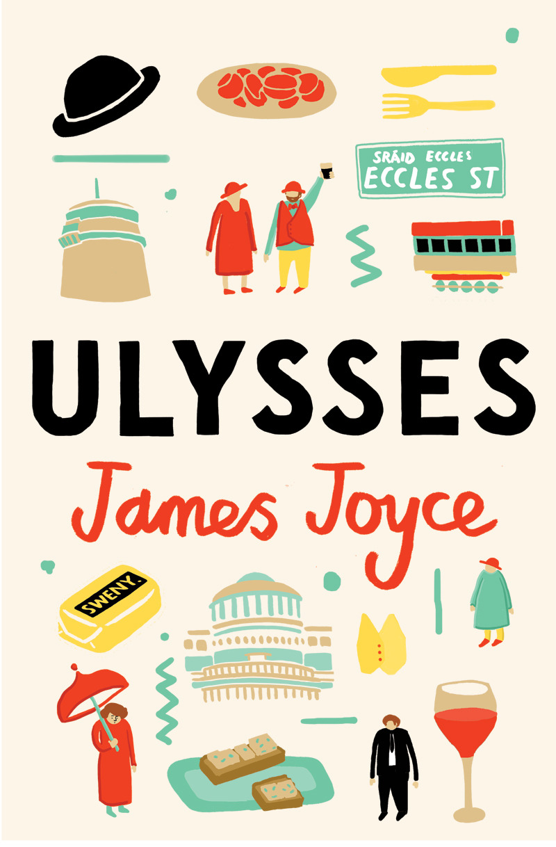 It's nearly Bloomsday! Here's a Ulysses cover! It was for an Irish Times competition and it's now up on the site here, amongst various shamrocks and portraits of Joyce.
