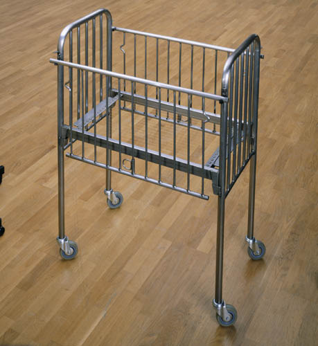 "Mona Hatoum. Incommunicado, 1993. Metal Cot, cheese wire. 1264 x 575 x 935 mm. Tate. Yet another contemporary artist adopting the bed as a motif is Mona Hatoum. She has produced a number of works manipulating the ideas, which the bed conveys. Perhaps most striking of these creations is her depiction of an infant's cot, Incommunicado, 1993, which plays on ""the oscillations between life and death.""#1 In cold carbon-steel with a dangerously tightly stretched base of cheese wires, it is an object which would traditionally invite feelings of comfort, security and protection, however, it is ostracised with her choice of materials and instead it conjures unsettling thoughts of physical pain and abuse. Rather chillingly, the title has a significant impact upon the work's sense of threat, as a child cannot successfully communicate their suffering, they can only scream. Hatoum has stated that she sees ""furniture as being very much about the body. It is usually about giving it support and comfort. I made a series of furniture pieces which are more hostile than comforting.""#2Hatoum uses a wide variety of materials in her work, which she researches extensively before selecting the most appropriate for the subject she wishes to convey. Her intention is for ""the material to carry some of the aspects of the concept or maybe even to contradict it at the same time""#3 Short Space, 1992, is an installation of a minimalist nature, composed of bed spring meshes removed from the frame which have been hung up in rows of three and suspended from the gallery ceiling on a pulley mechanism which serve as an armature. It reflects her interest in the treatment of individuals by institutional structures such as: prisons, hospitals, barracks, boarding schools where she believes that people are treated in a ""dehumanising way, in a uniforming way""#4 and treated as numbers rather than individuals who have unique thoughts and feelings. In both these works metal grids have been created as an ambiguous metaphor for entrapment as a paradox to the feelings of comfort and security, which a bed would normally symbolise. #1  Merck M, Townsend C. The Art of Tracey Emin. London: Thames and Hudson LTD; 2002. P150#2 Bett G, Archer M, Zegher C, Said E, Manzoni P. Mona Hatoum. London: Phiadon Press LTD; 1997. P20 # 3 The Eye – Mona Hatoum. [DVD]. London: Illuminations; 2005.# 4 The Eye – Mona Hatoum. [DVD]. London: Illuminations; 2005."