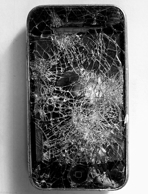 uhgly:  your phone is a little scratched