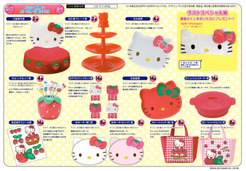Hello Kitty strawberry products