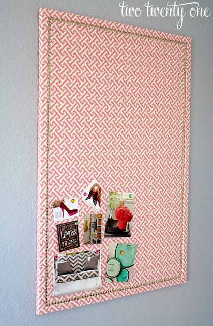 Faux Nail Head Trimmed Cork Board