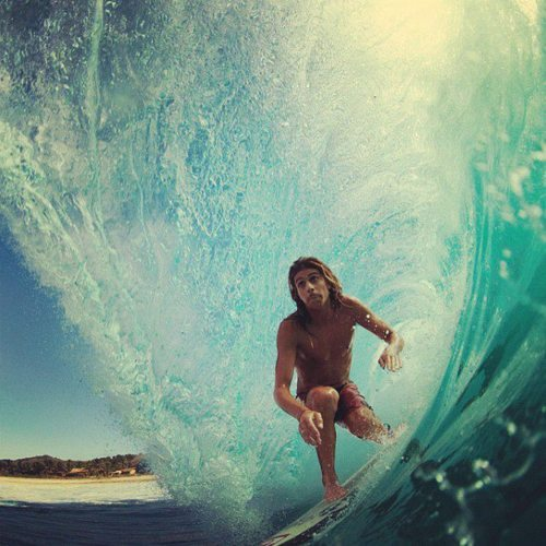 wildsurfer-kid:  wildsurfer-kid: My favourite surfer ever. But don't understand it in the wrong way. He's my favourite surfer because I love the way he surfs, the way he just ride the waves, the way that he just feel the wave. He's not my favourite surfer for his hair or for if he's hot or stuff like that. Take less time to look at the surfers appareance and look at the way they surf, trust me, it's amazing.  yeah ok, like u dont like him for being hot too. please