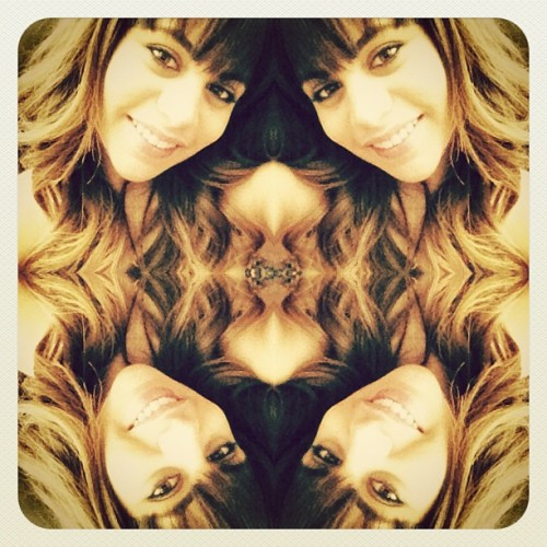 #kaleidoscope#me#brunette#girl#bangs#ombre#hair#pretty#curls#mirrorpic#edit#diptic#instagood#iphonesia#iphoneonly#iphonography (Taken with Instagram)