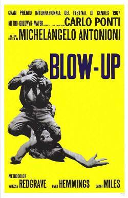 -FILM PICK OF THE WEEK- BLOW-UP It's debatable whether or not Michelangelo Antonioni's 1966 ode to mod decadence is truly a masterpiece, but one thing cannot be denied; it greatly affected the cinematic culture and paved the way for liberated filmmakers to craft deeply personal movies during the 1970's. Antonioni's first English-language feature was more accessible than the Italian filmmakers previous three films, L'Aventura (1960), La Notte (1961), and Eclipse (1962), but for American audiences, it ranked as something new and exciting. READ FULL REVIEW HERE