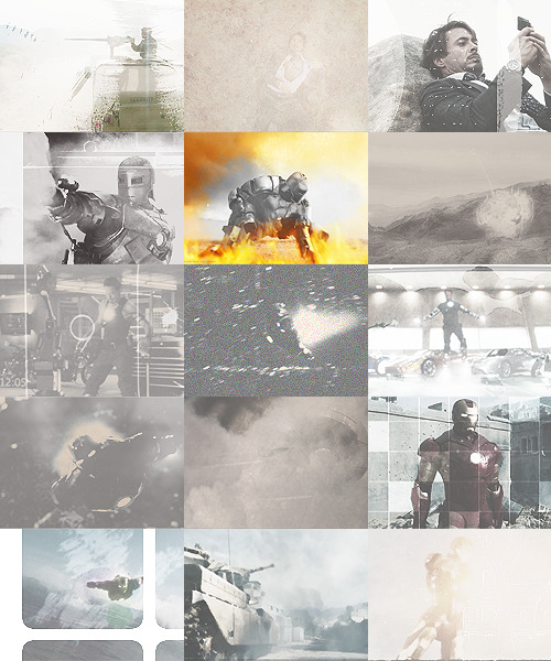 [x] iron man + silver/grey [@jawnhatson]