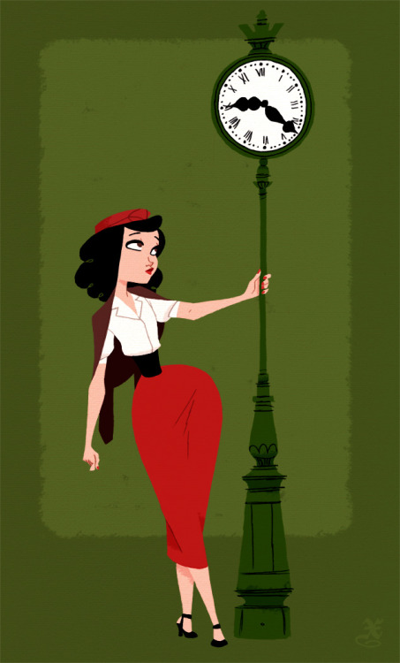 littlebunnysunshine:  Paris Girl 40s by ~XAV-Drawordie