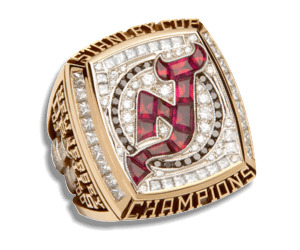 becauseitsadamhenrique:  coachtorts:  Stanley Cup Rings New Jersey Devils | 2003 (18/25)  The recent one … But not for long! :) I believe