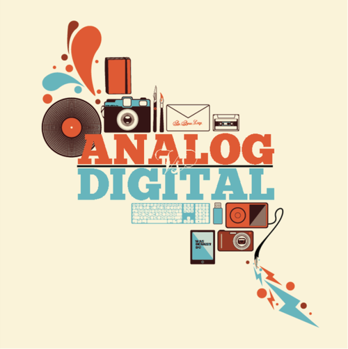 vinylespassion:  Analog vs Digital by Nick Schmidt