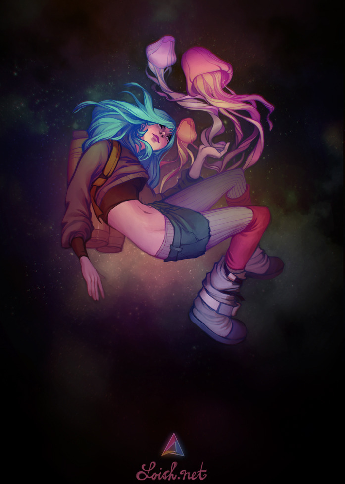 lohrien:  abduzeedo in space by `loish  I have it! Lois is awesome! :D