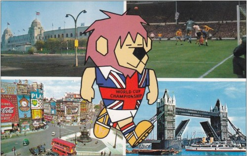 footysphere:  1966 World Cup postcard - featured World Cup Willie