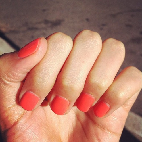 Nails done! #chanel #orangefizz (Taken with Instagram)