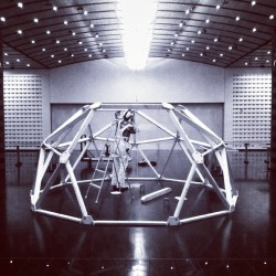 This geodesic dome is gettin' built right now in our Schwab room! Come check it out tomorrow at lunch and enjoy chili 'n' biscuits while building a mini geodesic dome out of toothpicks and gumdrops.