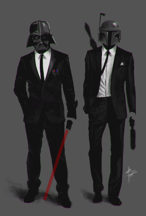 tiefighters:  Men in Black Created by z0h3