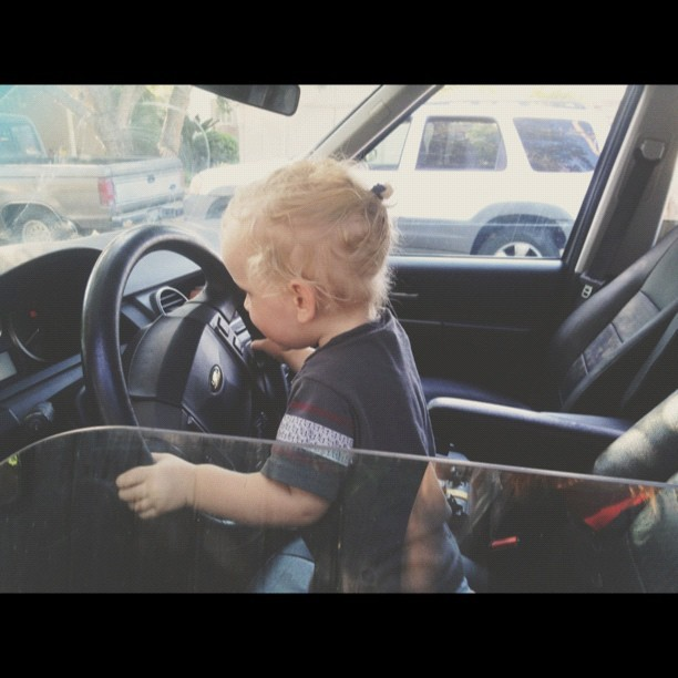#vscocam playing in the car is no longer a fun option if we get bored… It's a need that must be met daily or we will pay.  (Taken with Instagram)