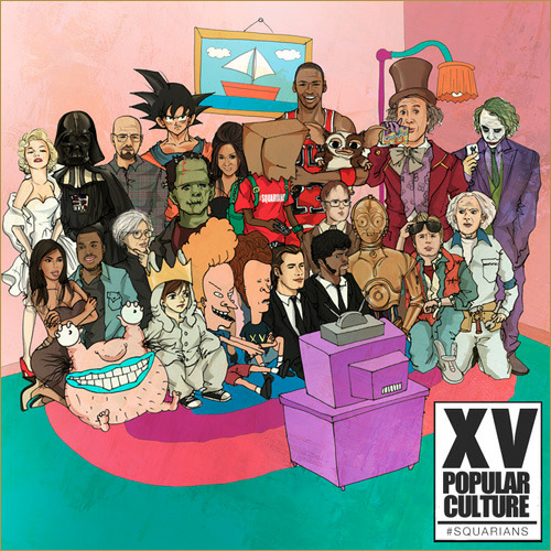 XV — AaaHH! Real Monsters ft. ScHoolboy Q   XV releases a cut from his project Popular Culture, which is dropping tomorrow. The artwork alone for this song is enough to make you listen!