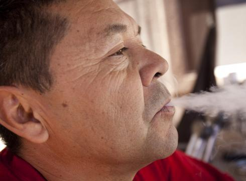 thatsgoodweed:  Army veteran Emanuel Herrera smokes medical marijuana in his Phoenix home. Some veterans are pushing for states with medical marijuana programs to include PTSD as a qualifying condition  It need to be because its a reason why I smoke