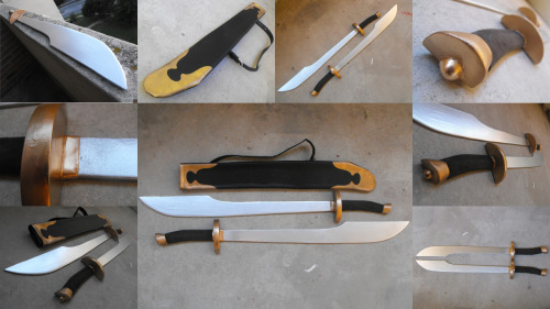 attyca:  And here are the finished swords! I'll have photshoot pictures up of Zuko in the next little while hopefully, so I figured this could be a teaser…for….my simplest costume ever…. >.>   <.<  aaahahah realized that my earlier ask that i published (accidentally) didn't make much sense…. but it was in reference to these awesome zuko swords tracy made!!!!