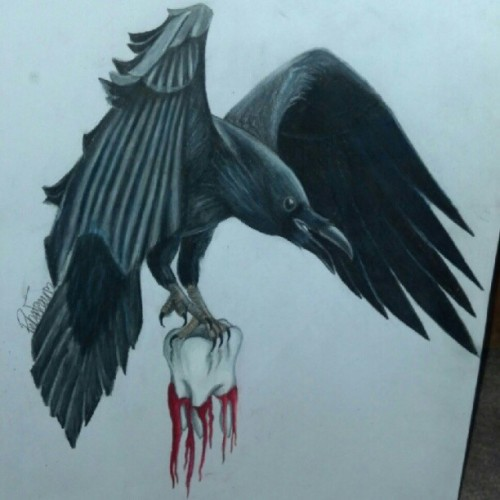 All done! #art #surrealism #bird #tooth #color  (Taken with Instagram)