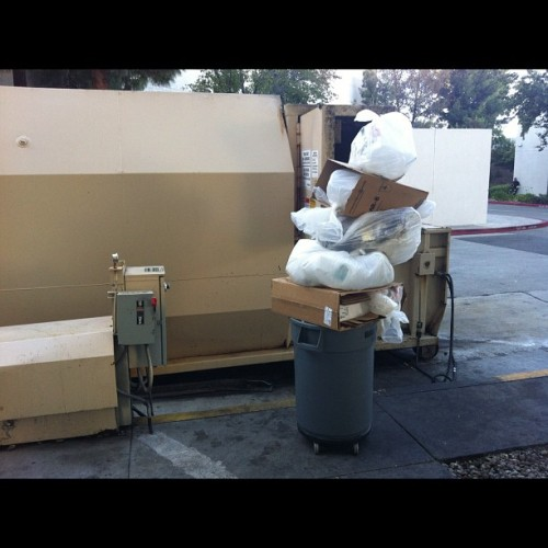 Today's garbage not tall enough. #starbucks #nofilter  (Taken with Instagram)