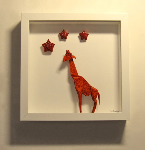 """Aquarium of an origami giraffe"""