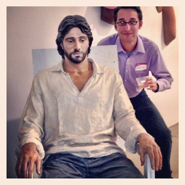 Hanging out with Jesus of Suburbia (Taken with Instagram at Mana Contemporary Art Center)