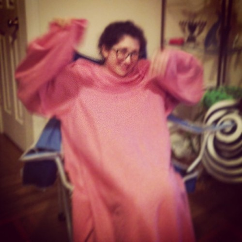 Love my snuggie @robinfsu hi mom (Taken with Instagram)
