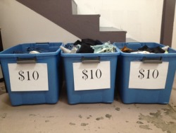 Last sale we had two $10 bins, for tomorrow's sale we are going to have three. Did someone say bargain?