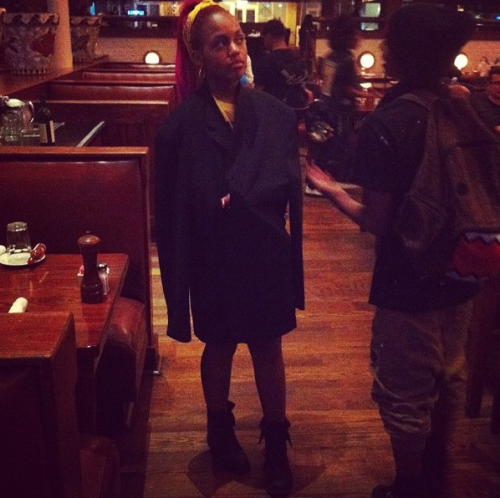 mainlymindless:  Bahja, that coat.  . ADOREABLE !!