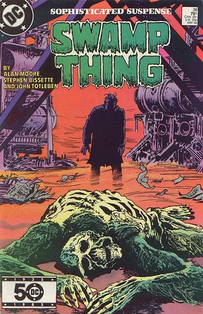 Saga of Swamp Thing #36, May 1985, written by Alan Moore, penciled by Stephen Bissette