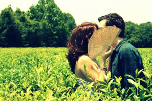 hellomynameisliv:  Engagement photos at America's only tea plantation for our tea party wedding.  We had a good time today.