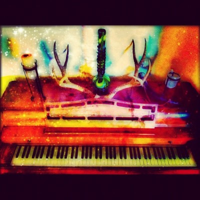 The Magical Piano at my crib. Needs a tuning but still makes magic #aplus #iphoneonly #pleetography #instagood #iphoneography #oaklandgems #piano #music #hieroglyphics #hiero  (Taken with Instagram)