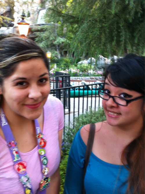 In line for the newly remodeled Matterhorn!!! First time in forever. Too excited. ☺