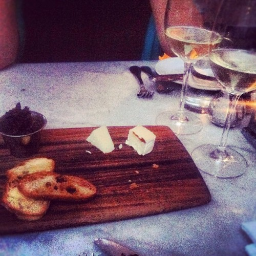 pbs-food:  Bread. Cheese. Wine. Dinner. #fwclassic (Taken with Instagram)